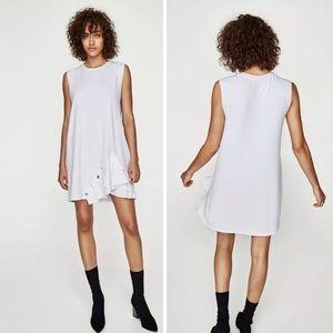 NWT ZARA sleeveless ruffle tunic mini dress